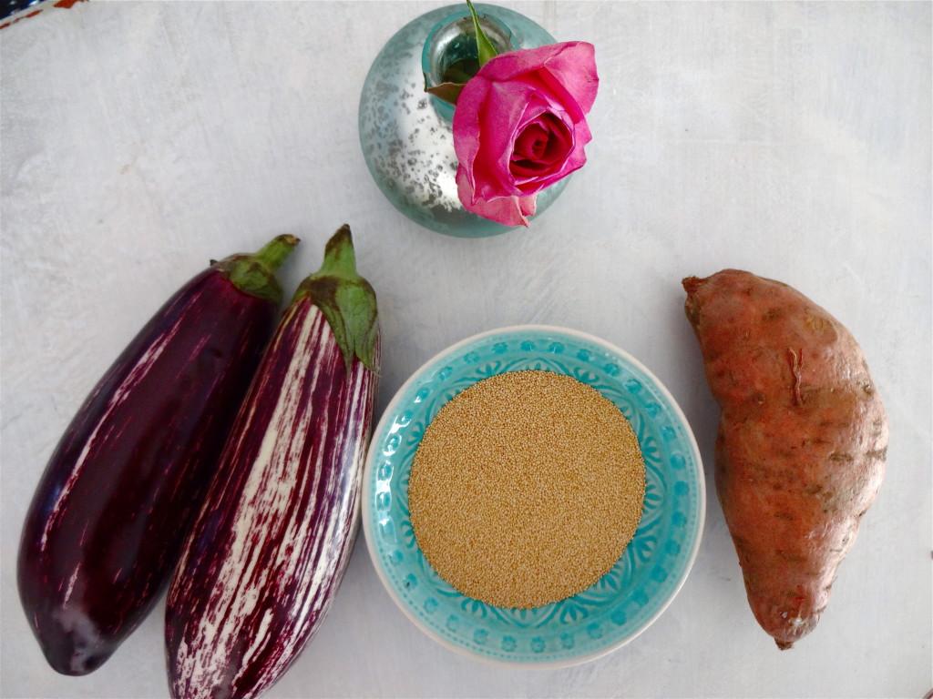 Amaranth Stuffed Eggplants - Gefüllt Auberginen mit Amaranth