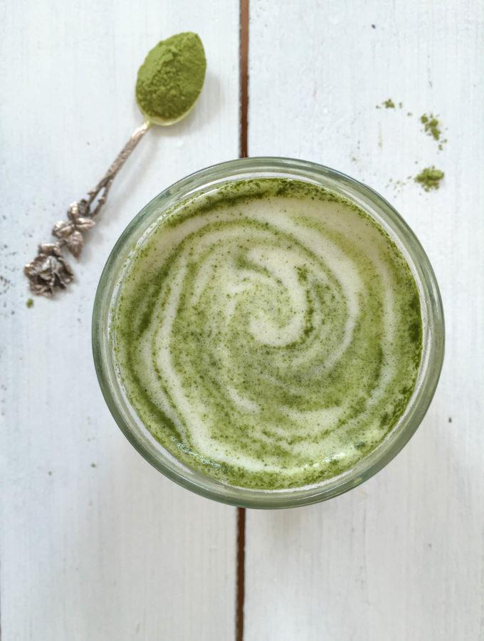 Matcha Green Tea Latte - vegan, plant based, vegetarian, gluten free - heavenlynnhealthy.com
