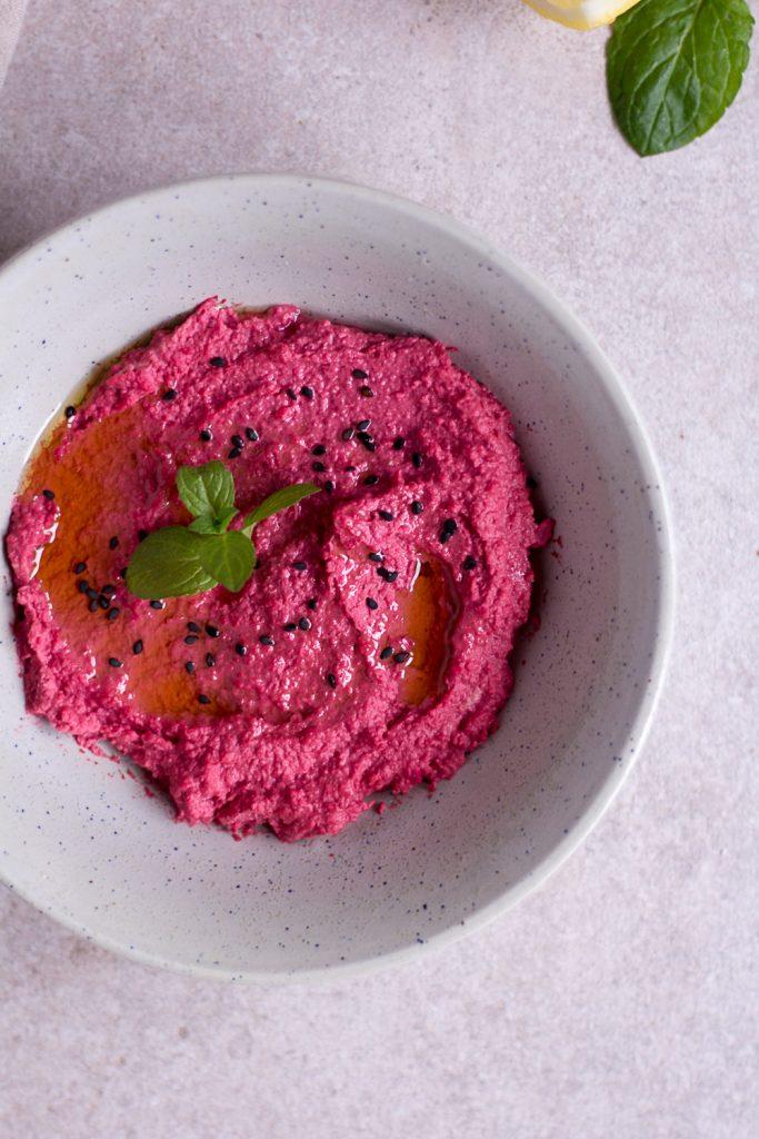 Beetroot Hummus - plant-based, vegan, gluten free, refined sugar free - heavenlynnhealthy.com