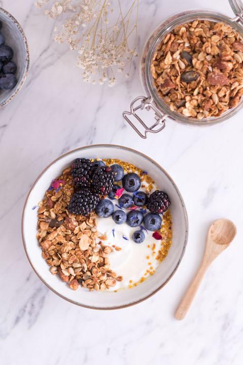 Almond Coconut Granola - vegetarian, vegan, plant based, refined sugar free, gluten free - heavenlynnhealthy.com