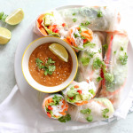 Thai Sommer Rolls with Peanut Dipping Sauce