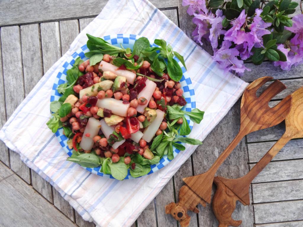 Oriental Asparagus Chickpea Salad