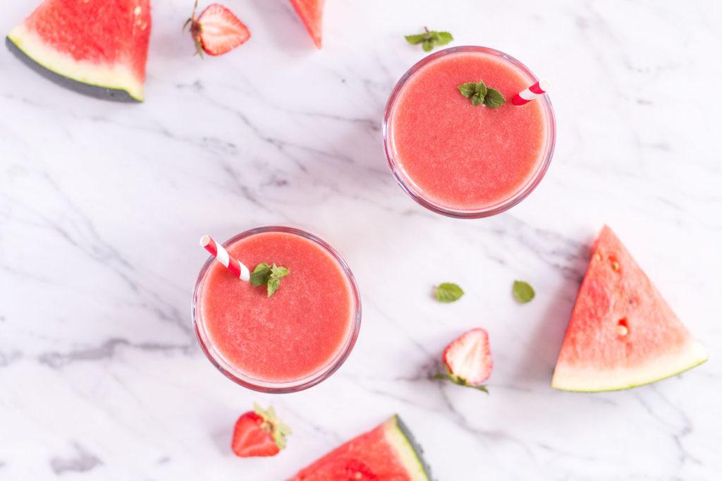 Strawberry Watermelon Smoothie - vegan, plant based, refined sugar free, healthy - heavenlynnhealthy.com
