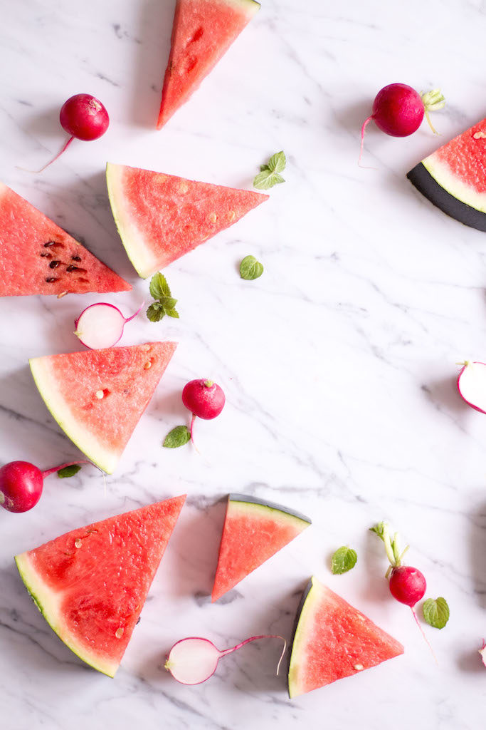 Watermelon, Radish and Cherry Tomato Salad - vegan, plant based, vegetarian, gluten free - heavenlynnhealthy.com