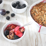 Damson, Apple & Blackberry Crumble