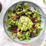 Watercress, Beetroot and Avocado Salad with Beluga Lentils