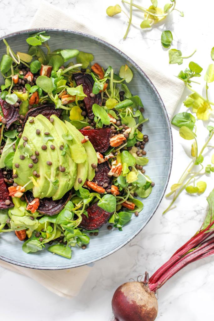 Watercress, Beetroot and Avocado Salad
