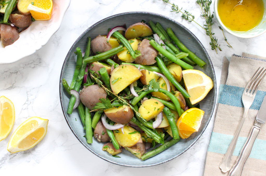 Simple Green Bean and Potato Salad with Orange-Vinaigrette - dairy-free, plant-based, gluten-free, refined sugar-free