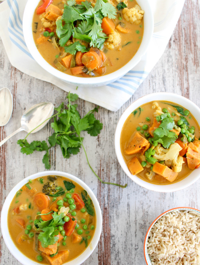 Sweet Potato and Cauliflower Thai Curry - plant-based, vegan, gluten-free, dairy-free