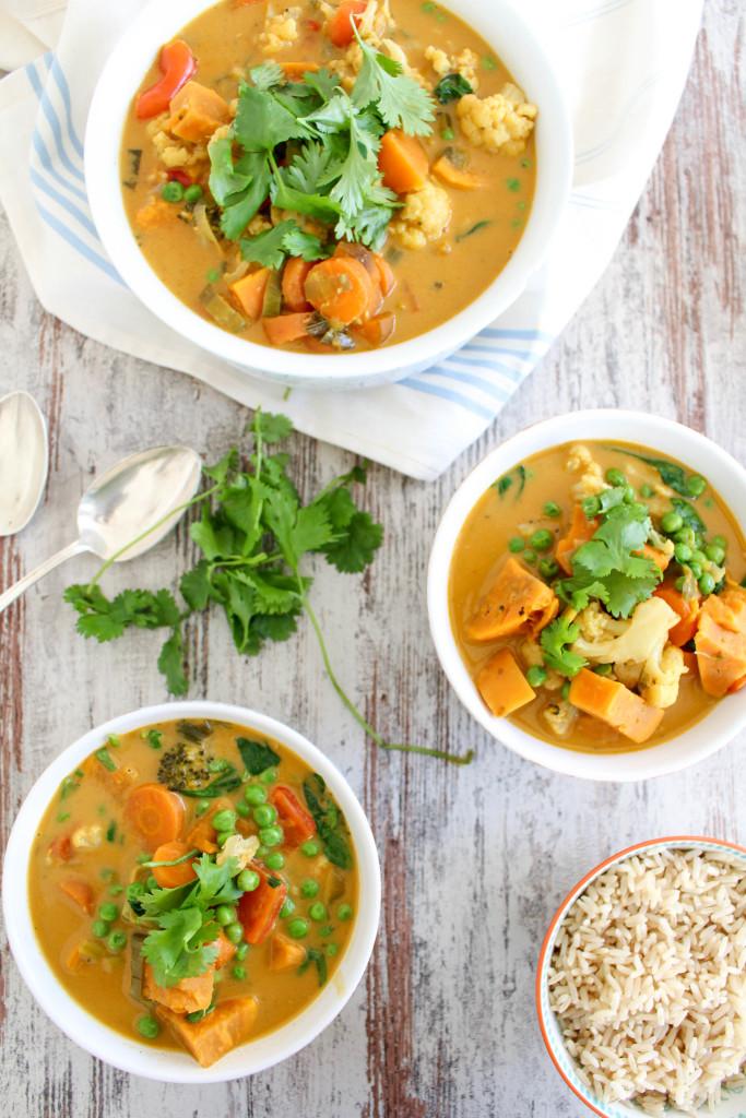 Sweet Potato and Cauliflower Thai Curry - plant-based, vegan, gluten-free, dairy-free