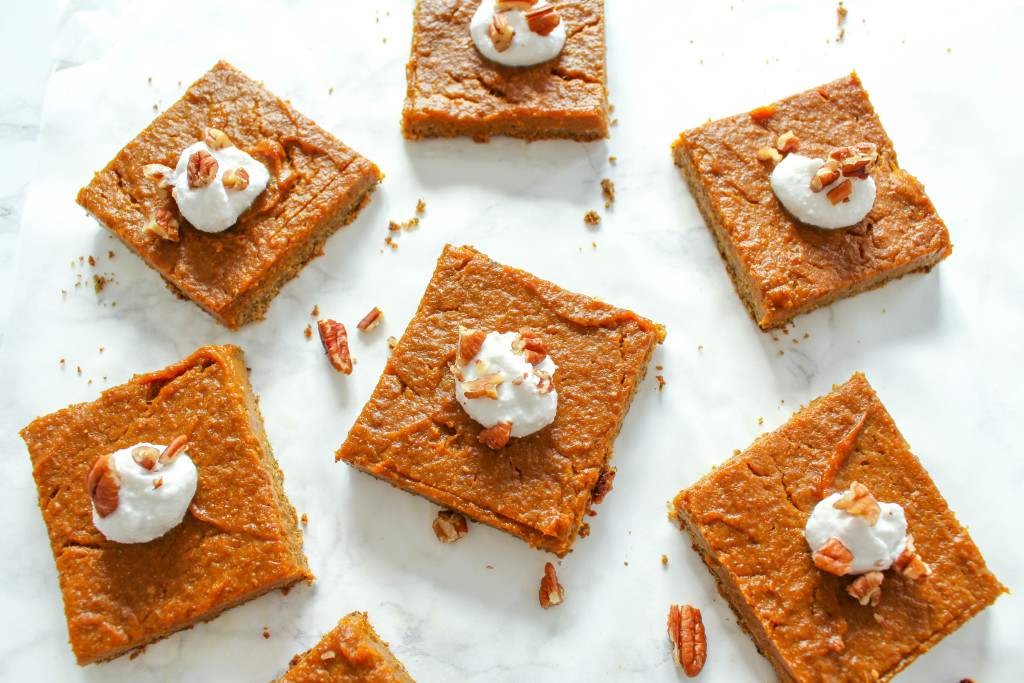 Healthy Pumpkin Pie Squares - vegan, gluten-free, nut-free