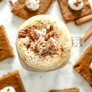 Healthy Pumpkin Spice Latte - vegan, gluten free, refined sugar free, plant-based