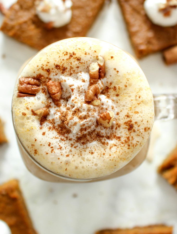 Healthy Pumpkin Spice Latte - vegan, gluten free, refined sugar free, plant-based