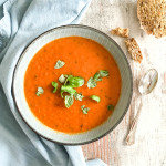Roasted Red Pepper and Cannellini Soup - vegan, plant based, gluten free, refined sugar free- heavenlynnhealthy.com