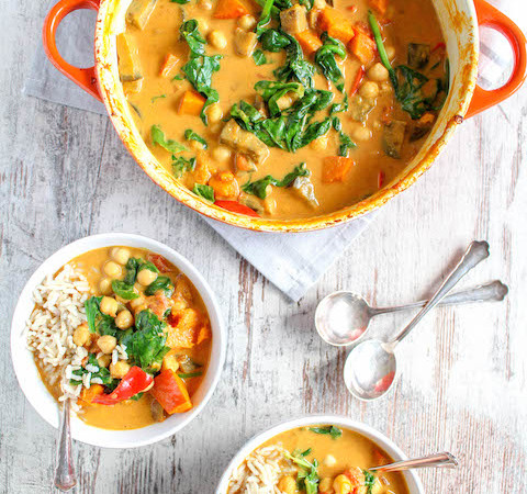 One Pot Eggplant, Pumpkin and Chickpea Curry - plant based, gluten free, refined sugar free - heavenlynnhealthy.com