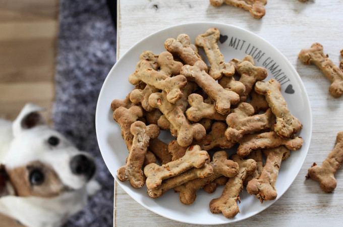 Healthy Dog Treats with Bananas and Carrots - vegan, plant based, gluten free, refined sugar free - heavenlynnhealthy.com