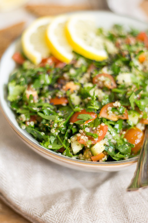 Quinoa Tabbouleh with Za'atar - plant based, gluten free, refined sugar free, vegan - heavenlynnhealthy.com