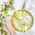Refreshing Cucumber and Lime Smoothie (Key Lime Smoothie) - plant based, vegan, gluten free, refined sugar free - heavenlynnhealthy.com