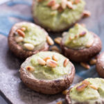 Stuffed Mushrooms with Cashew Basil Cream - plant based, dairy free, gluten free, vegan - heavenlynnhealthy.com