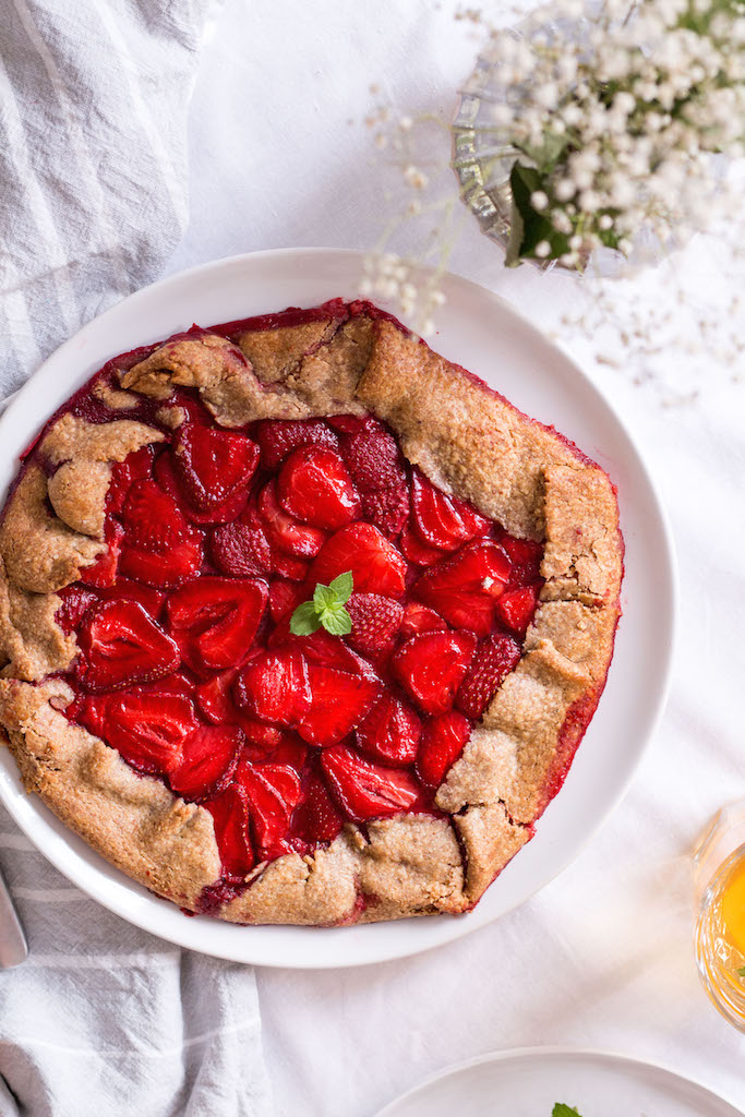 Healthy Strawberry Galette