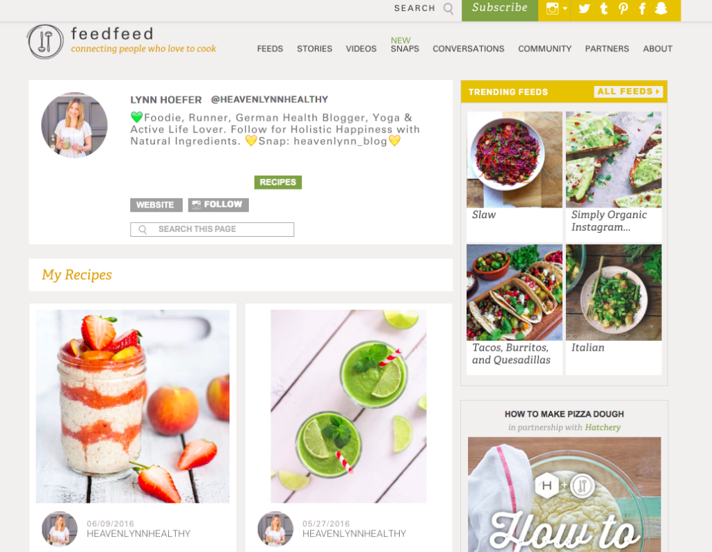 Heavenlynn Healthy Press - FeedFeed