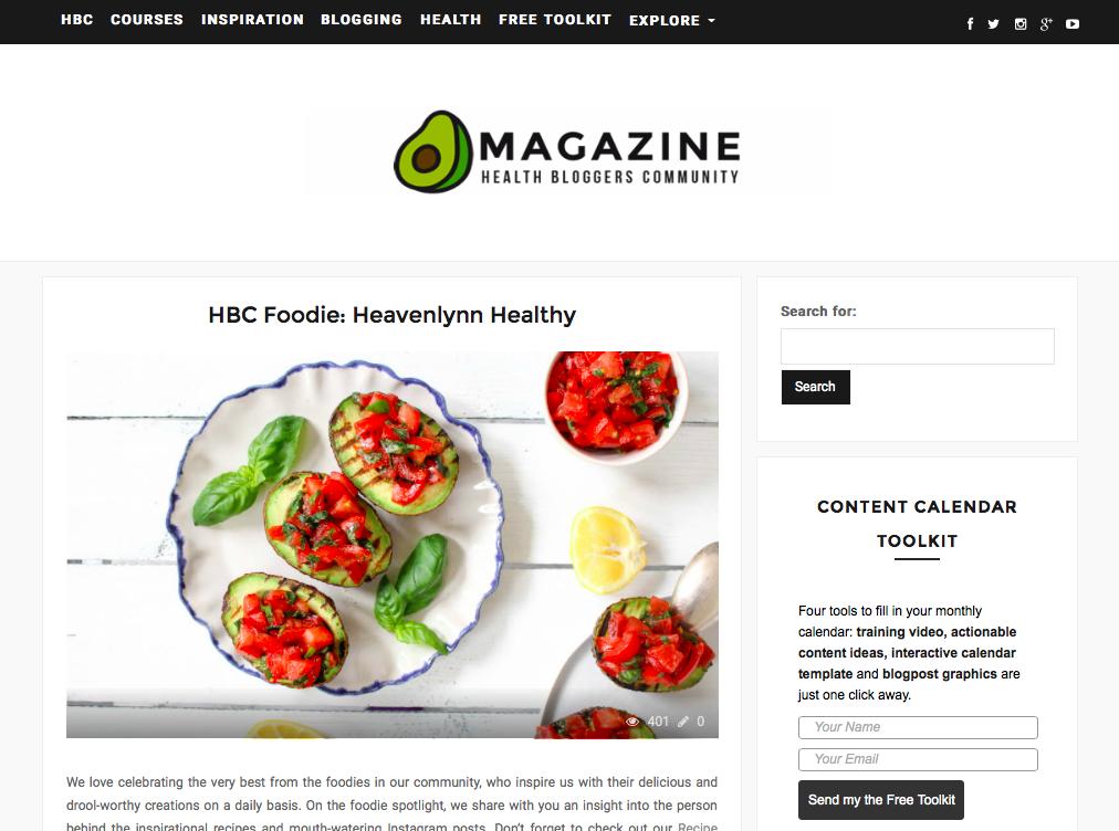 Heavenlynn Healthy Press - Hbloggers Foodie Feature