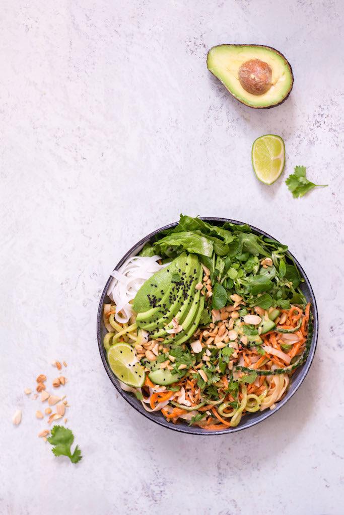 Summer Roll Bowl with Peanut Lime Sauce - plant based, vegetarian, vegan, refined sugar free, gluten free - heavenlynnhealthy.com