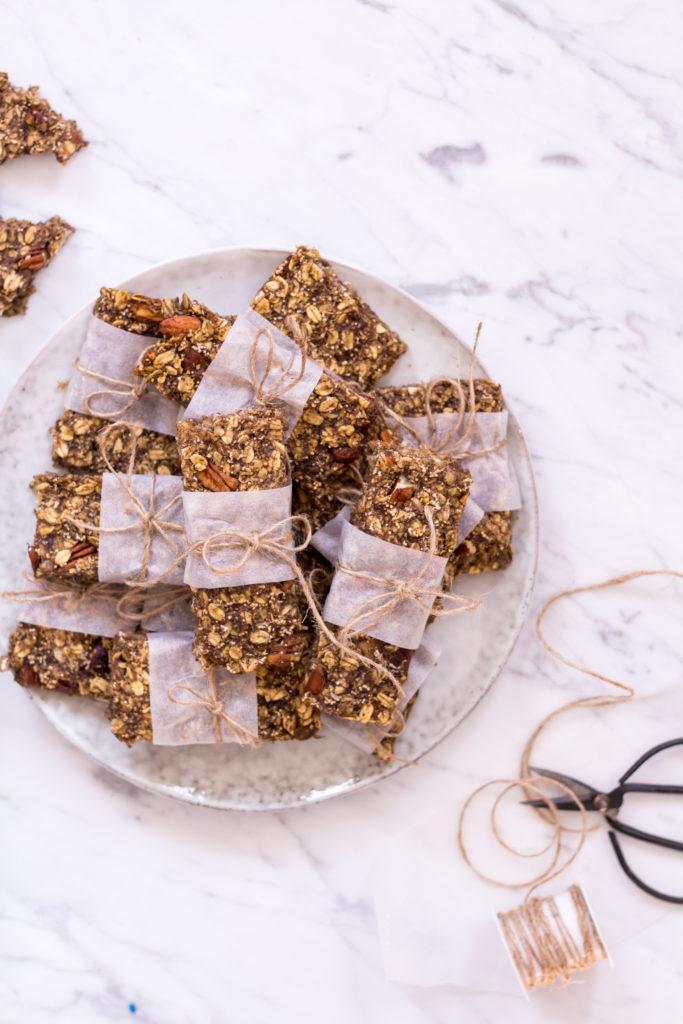 Homemade Amaranth Pecan Granola Bars - vegan, plant based, gluten free option, refined sugar free, healthy - heavenlynnhealthy.com