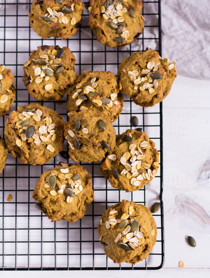 Healthy Pumpkin Muffins - vegan, plant based, refined sugar free, gluten free - heavenlynnhealthy.com