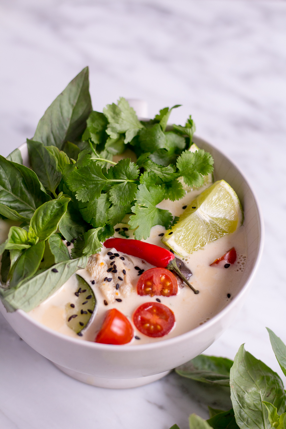 Thai Coconut Soup (Tom Kha Veggie)