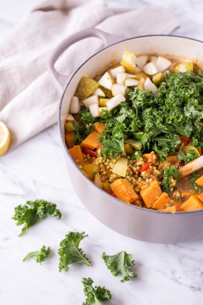 Warming Winter Stew with Sweet Potatoes, Kale & Buckwheat - plant based, vegan, gluten free, refined sugar free, dairy free - heavenlynnhealthy.com