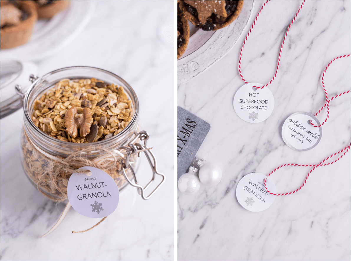 Edible DIY Gifts (+printable gift tags!) - heavenlynnhealthy.com