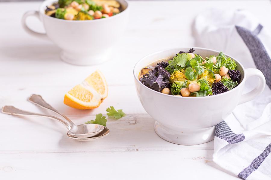 Green Kale Vegetable Soup - plant-based, vegan, gluten free, refined sugar free - heavenlynnhealthy,com