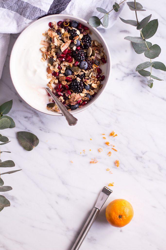 Orange Granola - plant-based, vegan, gluten free, refined sugar free - heavenlynnhealthy.com