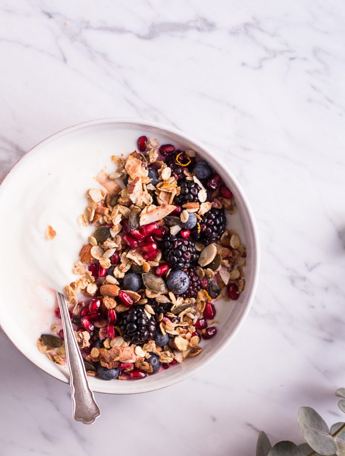 Orange Granola - plant-based, vegan, gluten free, refined sugar free - heavenlynnhealthy.com