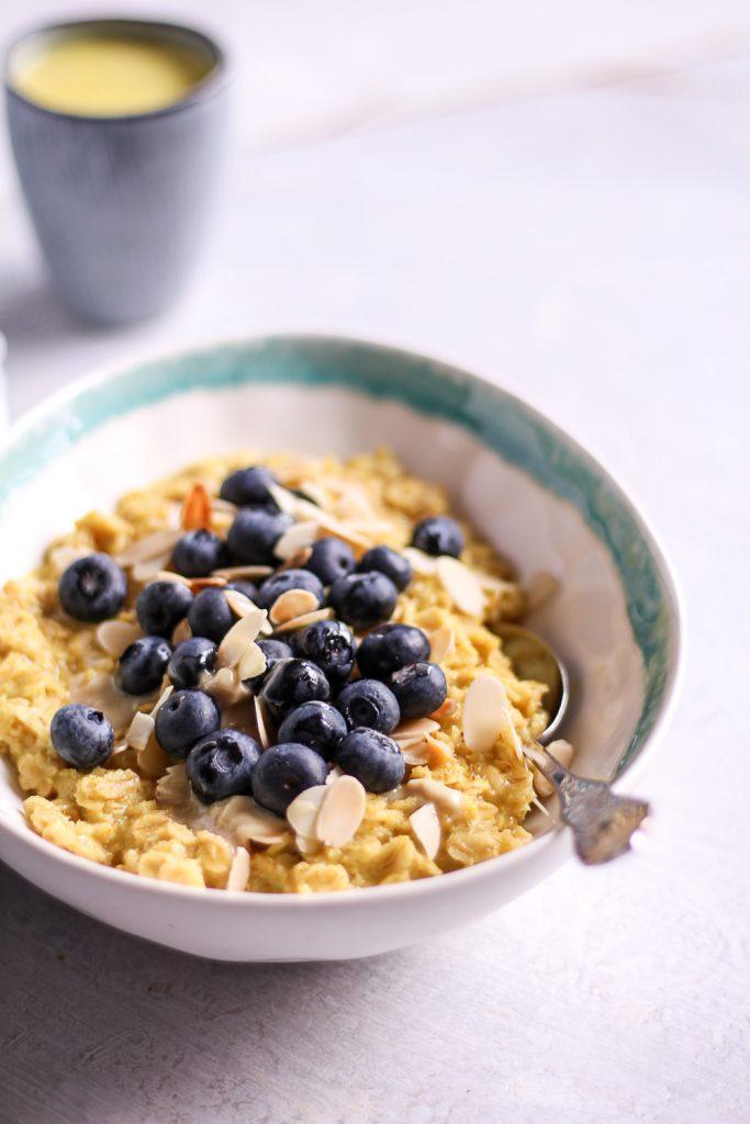 Turmeric porridge - plant-based, vegan, gluten free, refined sugar free - heavenlynnhealthy,com