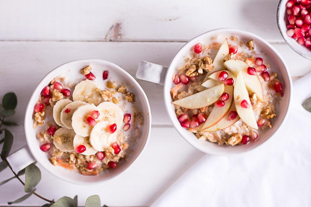 Carrot Cake Oatmeal - plant-based, vegan, gluten free, refined sugar free - heavenlynnhealthy.com