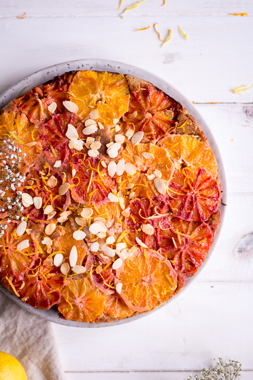 Healthy Lemon & Blood Orange Upside Down Cake