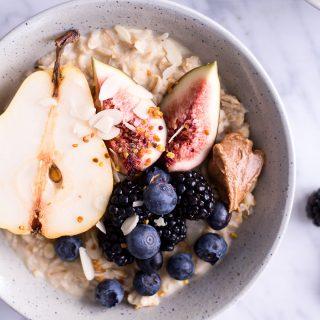 Pear and Hazelnut Porridge - plant-based, vegan, gluten free, refined sugar free - heavenlynnhealthy.com