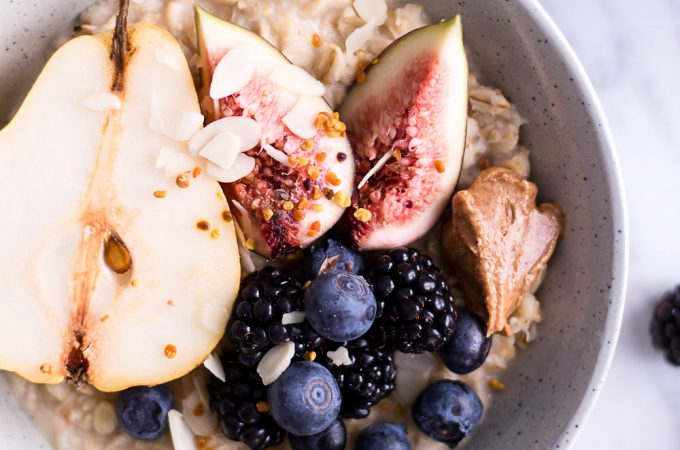 Pear and Hazelnut Porridge - plant-based, vegan, gluten free, refined sugar free - heavenlynnhealthy.com