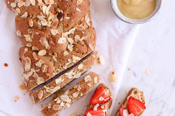 Healthy Easter Braid - plant-based, vegan, gluten free, refined sugar free - heavenlynnhealthy.com