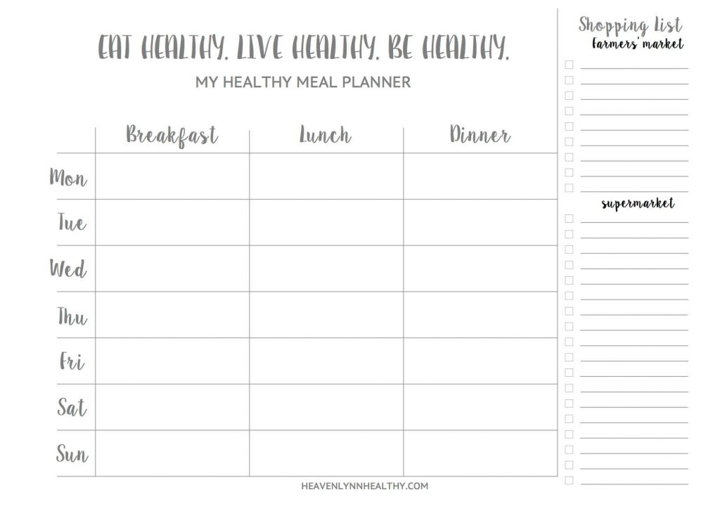 Mealplan - Heavenlynn Healthy
