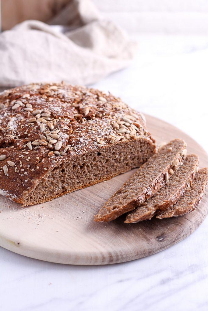 Whole-Grain Rye Bread - plant-based, vegan, refined sugar free - heavenlynnhealthy.com