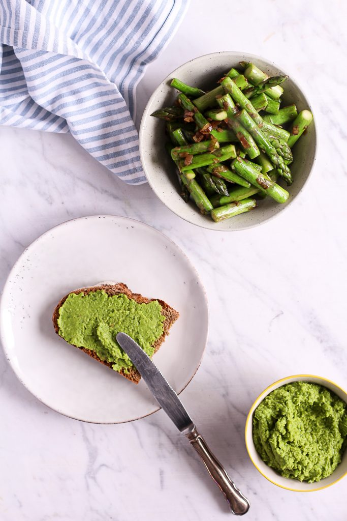 Asparagus Sandwich with Pea Basil Creme - plant-based, vegan, gluten free option, refined sugar free - heavenlynnhealthy.com