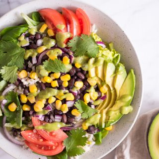 Quick Mexican-Inspired Salat - plant-based, vegan, gluten free, refined sugar free - heavenlynnhealthy.com