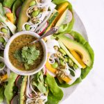 25 minute salad wraps with cashew-cilantro-dip - plant-based, vegan, gluten free, refined sugar free - heavenlynnhealthy.com