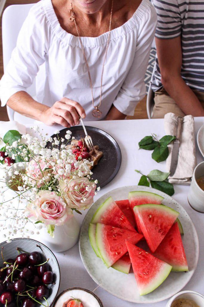 Coconut Peanut Butter Waffles - plant-based, vegan, gluten free, refined sugar free - heavenlynnhealthy.com