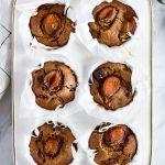 Healthy plum muffins