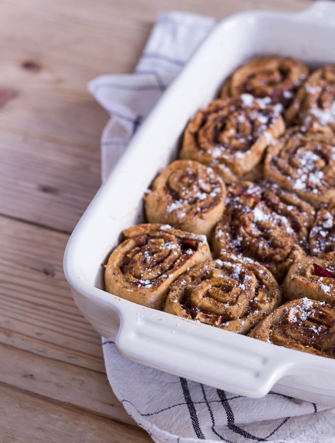 Healthier Apple-Cinnamon Rolls - plant-based, vegan, gluten free, refined sugar free - heavenlynnhealthy.com