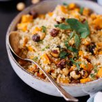 Sweet Potato Quinoa with Caramelized Hazelnuts